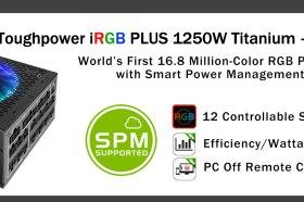 世界首創  曜越推出TT Premium頂級版Toughpower iRGB PLUS 1250W 鈦金牌數位電源供應器