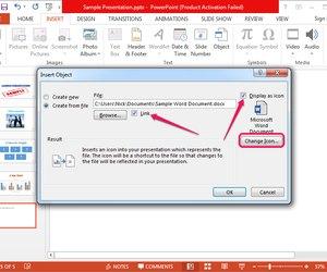 Как вставить документ ворд в презентацию powerpoint