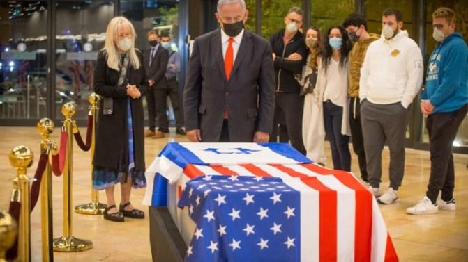 Coffin of philanthropist Sheldon Adelson arrived in Israel