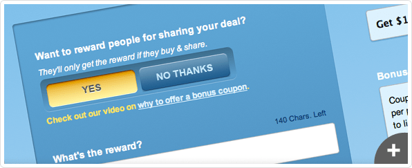 Create a share coupon
