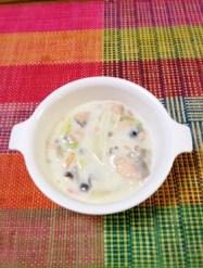 離乳食完了期☆白菜と鮭のクリーム煮