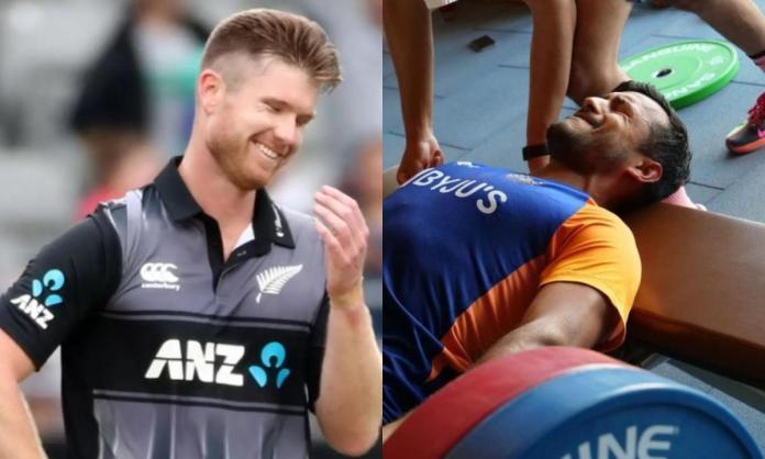 Cricket Image for James Neesham Trolls Mayank Agarwal