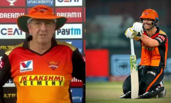 IPL 2021: SRH coach Trevor Bayliss hints David Warner unlikely to comeback soon, We want to stick wi