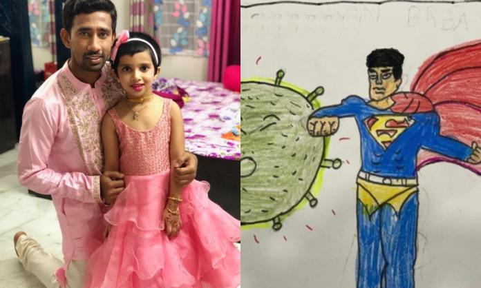 Cricket Image for Wriddhiman Saha Expresses Gratitude Towards His Daughter