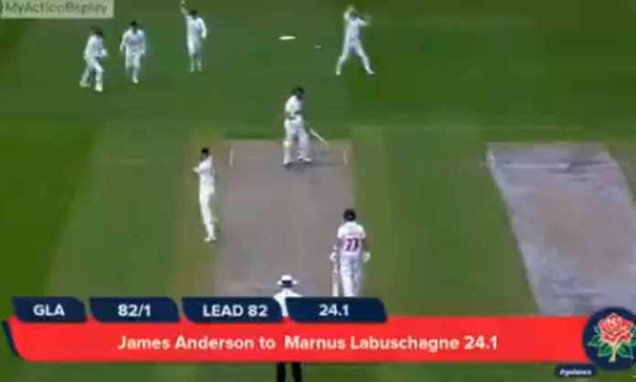 Cricket Image for WATCH : एंडरसन की स्विंग के सामने बेबस नजर आए लाबुशेन, आउट होने के बाद उड़ गए होश