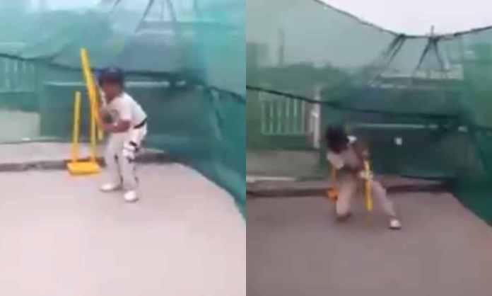 Cricket Image for WATCH : बैट की जगह स्टंप के साथ बैटिंग करता है ये 5 साल का बच्चा, शॉट्स देखकर नही