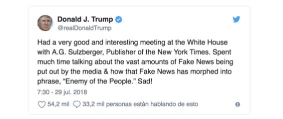 ataques de trump a la prensa son