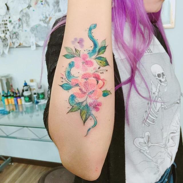Dónde conseguir los mejores tatuajes de acuarela en la CDMX 10