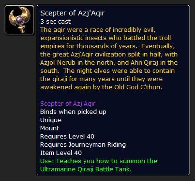 scepter of azjaqir Scepter of Azj'Aqir