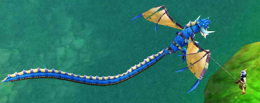 Dragon Kite - blue