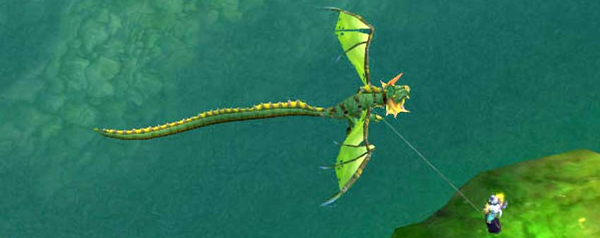 Dragon Kite - green