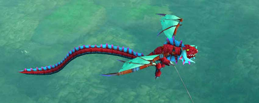 Dragon Kite - red