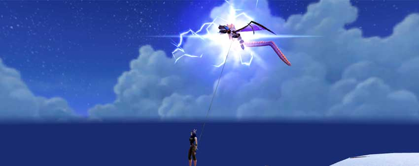 Dragon Kite - lightning strike