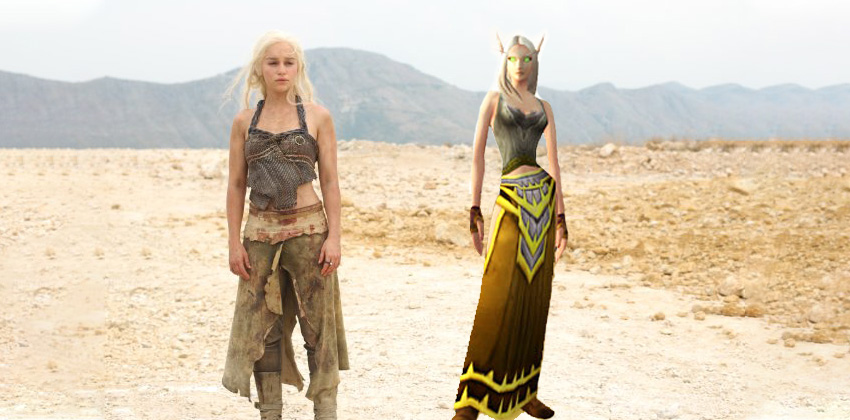 Daenerys Targaryen in the desert