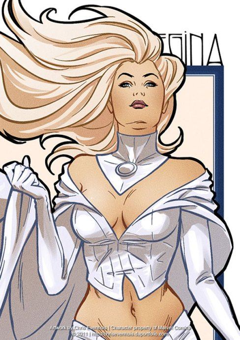 Emma Frost by Chrisevenhuis