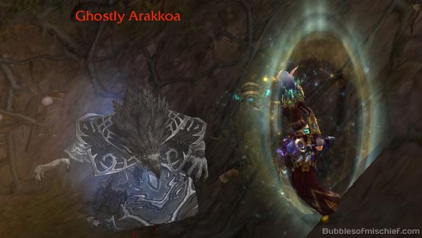 Ghostly Arakkoa Archaeology in Draenor