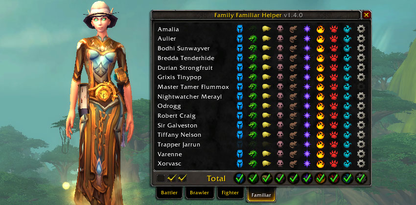 Family Familiar Helper addon