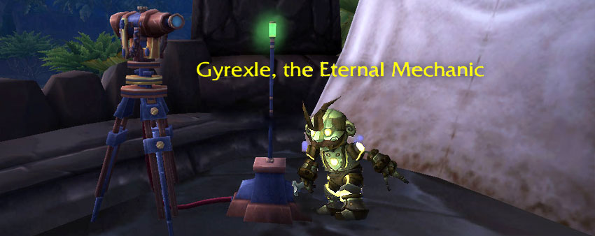 Gyrexle the Eternal Mechanic clockwork gnome archaeology pet