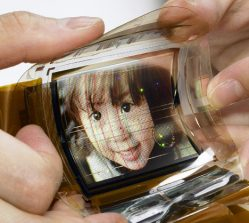 Sony has developed a  razor-thin display that bends like paper while showing full-colour video