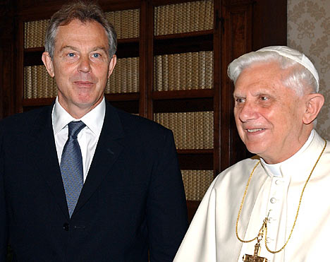 Tony Blair Becomes A Catholic