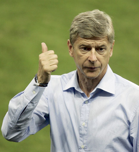 Arsene gives the fans a taste of their own medicine.