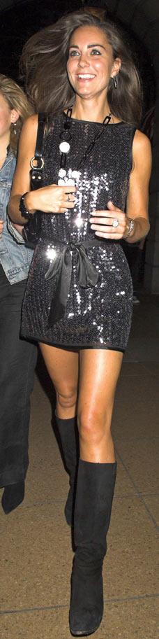 Kate Middleton in black sequin dress