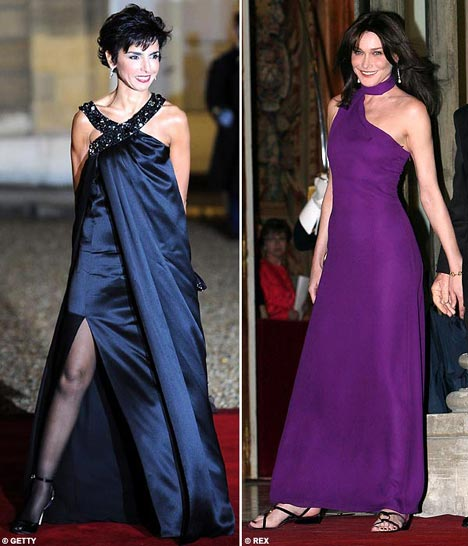 Rachida Dati and Carla Bruni