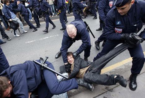 paris protest Olympics