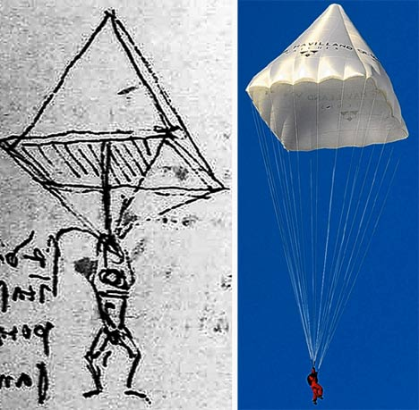 Leonardo DaVinci's Original Parachute Design