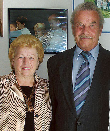 Incest monster Josef Fritzl pictured with his 68-year-old wife, Rosemarie