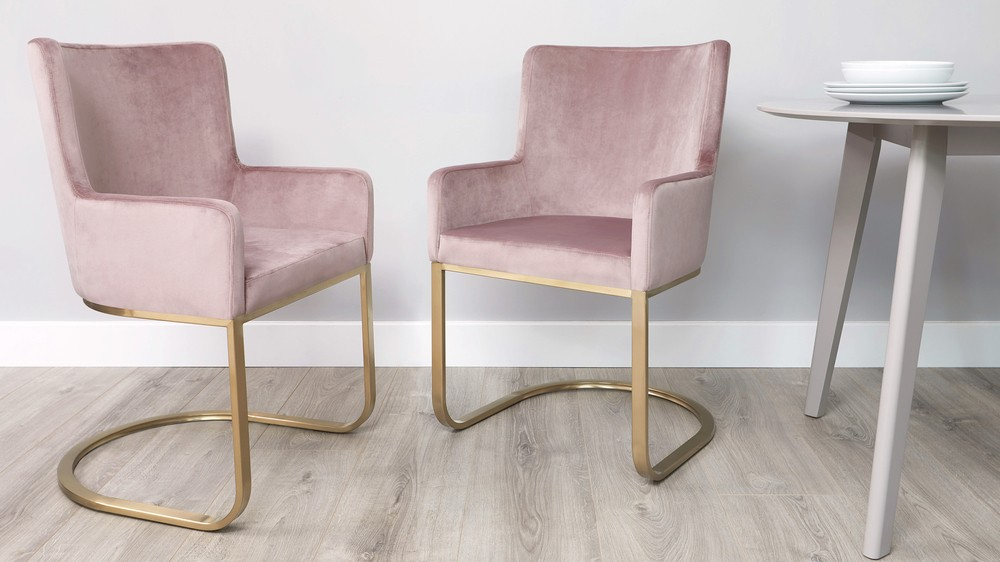 Pink Velvet Armchair Uk