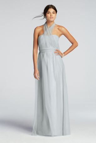 Long Tulle Convertible Versa Bridesmaid Dress   David s Bridal     David s Bridal Bridesmaid Dress  Mouse over to zoom