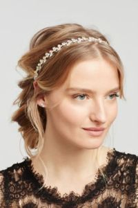 Prom Hair Accessories and Pieces   David s Bridal Solitaire Stretch Headband