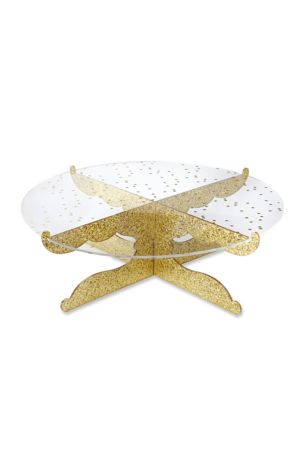 Party Time Gold Glitter Acrylic Cake Stand Davids Bridal