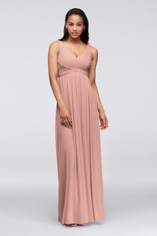 Maternity Bridesmaid Dresses   David s Bridal Soft   Flowy David s Bridal Long Bridesmaid Dress