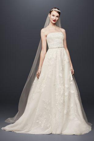 Garza Ball Gown Wedding Dress With Double Straps David S