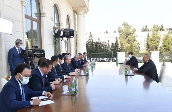 Президент Ильхам Алиев принял делегацию во главе со ...
