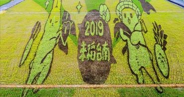 【台南景點】2019來稻台南,台南彩繪稻田ㄇㄚˊ幾兔現身:2019台南好米季