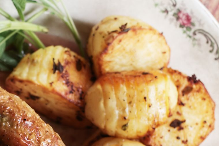 Thyme hasselback potatoes