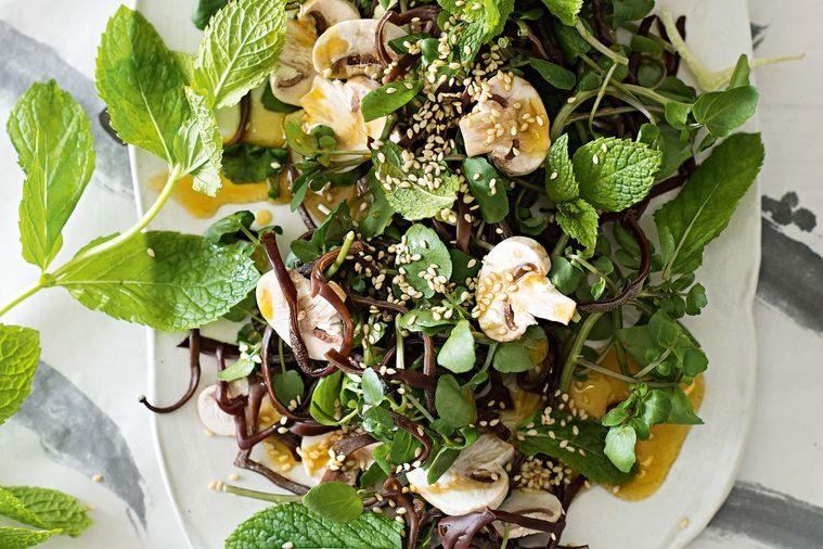 Mushroom, black fungus and fennel salad