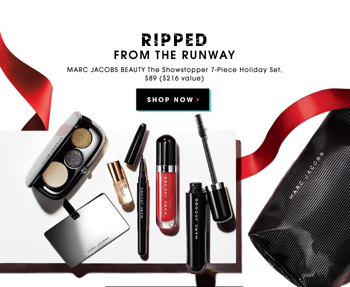 RIPPED FROM THE RUNWAY. Marc Jacobs Beauty The Showstopper 7-Piece Holiday Set, $89 ($216 value). SHOP NOW