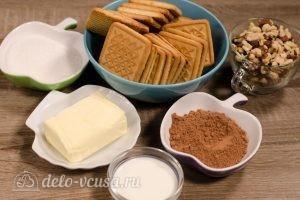 Сладкая колбаска из печенья: Ингредиенты