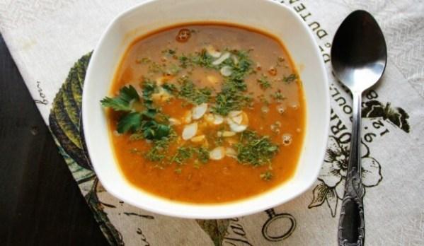 Суп-пюре из тыквы с чечевицей и чесноком, пошаговый рецепт ...