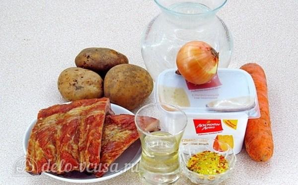 Сырный суп с копчёными рёбрышками пошаговый рецепт с фото