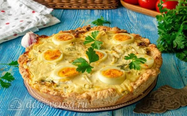 Киш с капустой и яйцом пошаговый рецепт с фото