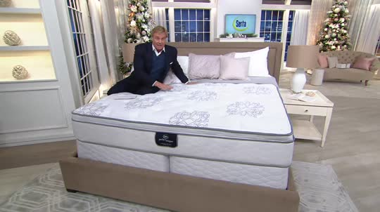 Serta Perfect Sleeper Private Luxury 12 5 Eurotop Kg Mattress Set Back To Video On Air Presentation
