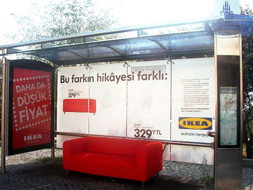 19 Creative And Unusual Bus Stop Advertisements Design Swan