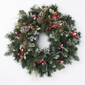 20 Beautiful Christmas Wreath Decorating Ideas     Design Swan 20 Beautiful Christmas Wreath Decorating Ideas