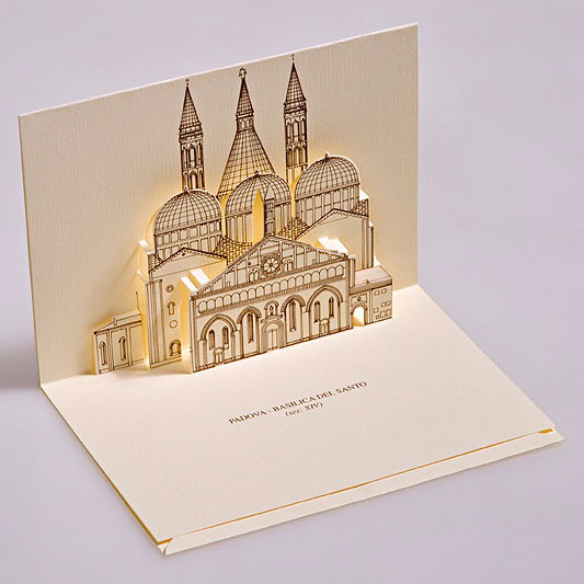 Creative 3D Popup Postcards Featuring Famous Monuments In Italy Design Swan
