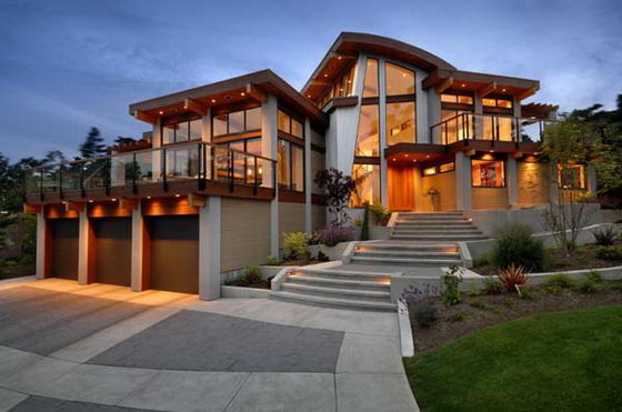 Contemporary Wooden and Glass House Designs by Keith Baker ... on Modern Glass House Design  id=96045